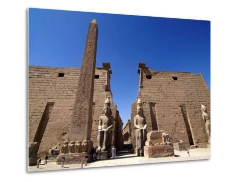 Luxor Temple, Luxor, Thebes, UNESCO World Heritage Site, Egypt, North Africa, Africa-Hans Peter Merten-Metal Print