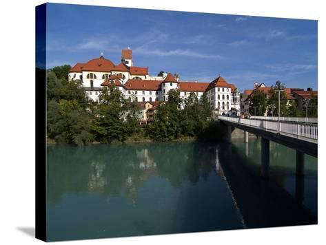 Fussen, River Lech and Castle, Allgau, Bavaria, Germany, Europe-Hans Peter Merten-Stretched Canvas Print
