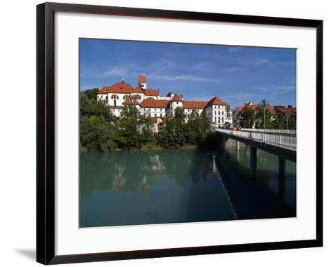 Fussen, River Lech and Castle, Allgau, Bavaria, Germany, Europe-Hans Peter Merten-Framed Art Print