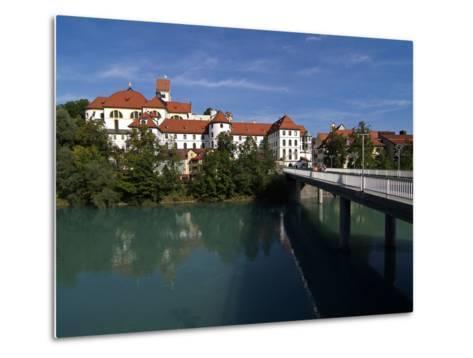 Fussen, River Lech and Castle, Allgau, Bavaria, Germany, Europe-Hans Peter Merten-Metal Print