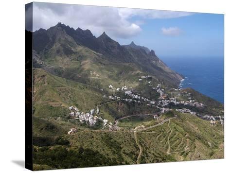 Anaga Mountains and Almaciga, Tenerife, Canary Islands, Spain, Atlantic, Europe-Hans Peter Merten-Stretched Canvas Print