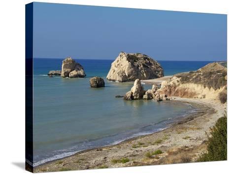 Petra Tou Romiou, Aphrodite's Rock, UNESCO World Heritage Site, Near Paphos, Cyprus, Mediterranean,-Hans Peter Merten-Stretched Canvas Print