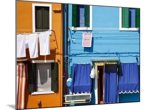 Colourfully Painted Houses Situated on Canal Banks on the Island of Burano, Located Near Venice, Ve-Kimberley Coole-Mounted Photographic Print