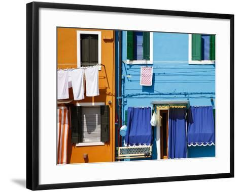 Colourfully Painted Houses Situated on Canal Banks on the Island of Burano, Located Near Venice, Ve-Kimberley Coole-Framed Art Print