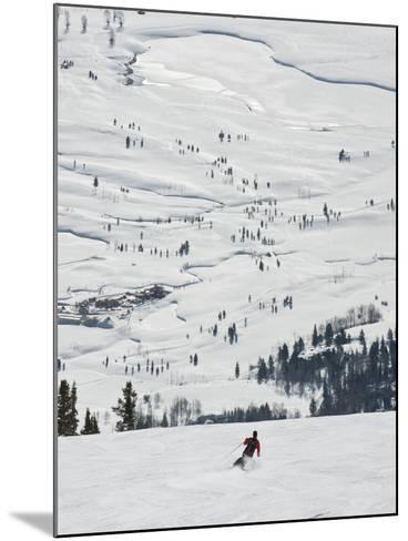 Skier at Jackson Hole Ski, Jackson Hole, Wyoming, United States of America, North America-Kimberly Walker-Mounted Photographic Print