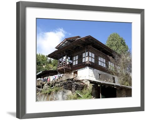 Traditional Bhutanese House in the Bumthang Valley, Bhutan, Asia-Lee Frost-Framed Art Print