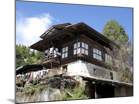 Traditional Bhutanese House in the Bumthang Valley, Bhutan, Asia-Lee Frost-Mounted Photographic Print