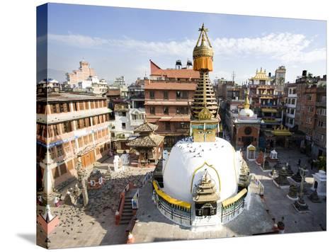 Buddhist Stupa in the Old Part of Kathmandu Near Durbar Square, Kathmandu, Nepal, Asia-Lee Frost-Stretched Canvas Print