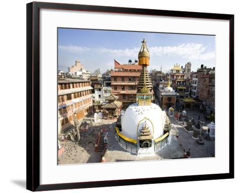 Buddhist Stupa in the Old Part of Kathmandu Near Durbar Square, Kathmandu, Nepal, Asia-Lee Frost-Framed Art Print
