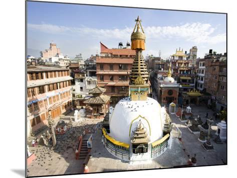 Buddhist Stupa in the Old Part of Kathmandu Near Durbar Square, Kathmandu, Nepal, Asia-Lee Frost-Mounted Photographic Print