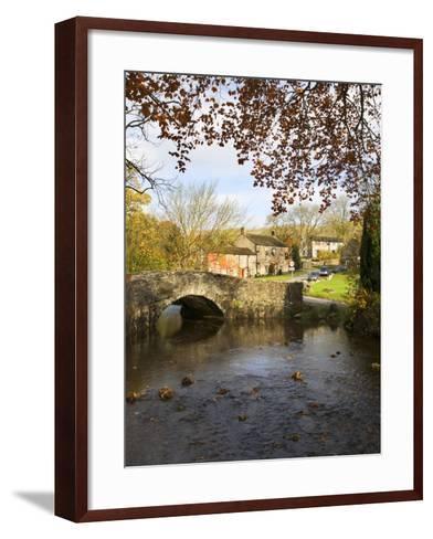 Malham Village in Autumn, Yorkshire Dales, Yorkshire, England, United Kingdom, Europe-Mark Sunderland-Framed Art Print
