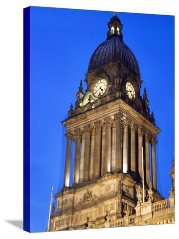 Leeds Town Hall at Dusk, Leeds, West Yorkshire, Yorkshire, England, United Kingdom, Europe-Mark Sunderland-Stretched Canvas Print