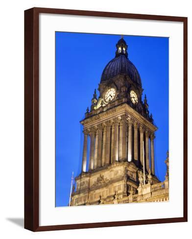 Leeds Town Hall at Dusk, Leeds, West Yorkshire, Yorkshire, England, United Kingdom, Europe-Mark Sunderland-Framed Art Print