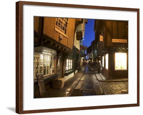 The Shambles at Christmas, York, Yorkshire, England, United Kingdom, Europe-Mark Sunderland-Framed Art Print