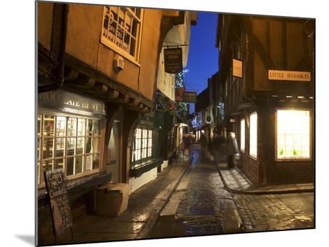 The Shambles at Christmas, York, Yorkshire, England, United Kingdom, Europe-Mark Sunderland-Mounted Photographic Print