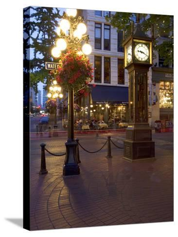 The Steam Clock, Water Street, Gastown, Vancouver, British Columbia, Canada, North America-Martin Child-Stretched Canvas Print