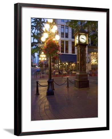 The Steam Clock, Water Street, Gastown, Vancouver, British Columbia, Canada, North America-Martin Child-Framed Art Print