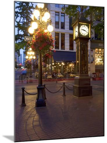 The Steam Clock, Water Street, Gastown, Vancouver, British Columbia, Canada, North America-Martin Child-Mounted Photographic Print
