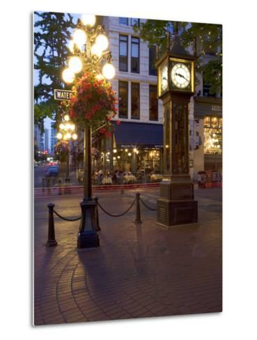The Steam Clock, Water Street, Gastown, Vancouver, British Columbia, Canada, North America-Martin Child-Metal Print
