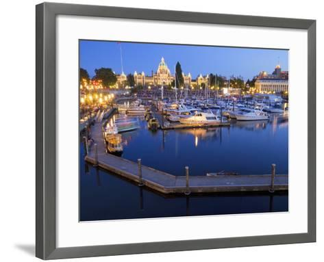 Inner Harbour with Parliament Building, Victoria, Vancouver Island, British Columbia, Canada, North-Martin Child-Framed Art Print