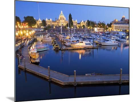 Inner Harbour with Parliament Building, Victoria, Vancouver Island, British Columbia, Canada, North-Martin Child-Mounted Photographic Print