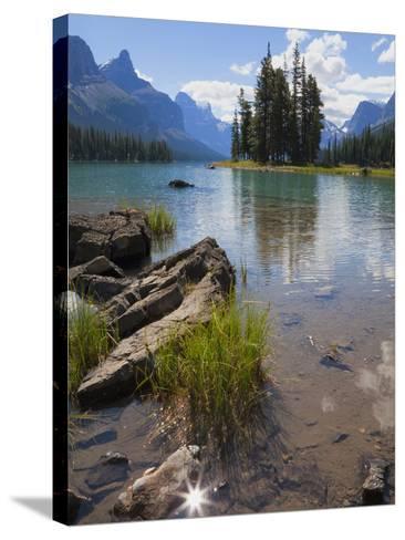 Spirit Island, Maligne Lake, Jasper National Park, UNESCO World Heritage Site, British Columbia, Ro-Martin Child-Stretched Canvas Print