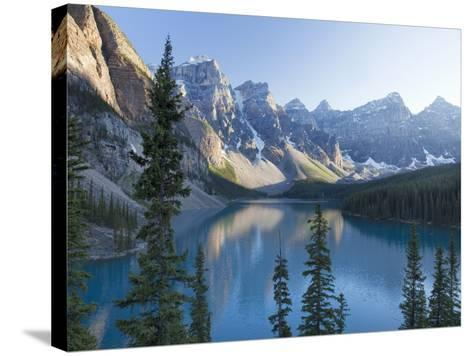 Reflections in Moraine Lake, Banff National Park, UNESCO World Heritage Site, Alberta, Rocky Mounta-Martin Child-Stretched Canvas Print