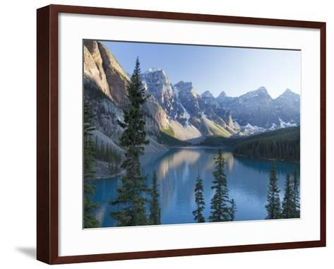 Reflections in Moraine Lake, Banff National Park, UNESCO World Heritage Site, Alberta, Rocky Mounta-Martin Child-Framed Art Print