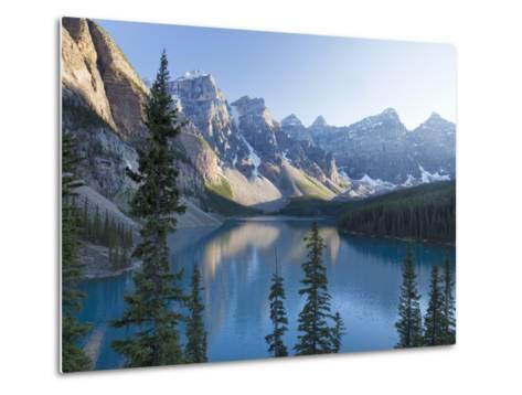 Reflections in Moraine Lake, Banff National Park, UNESCO World Heritage Site, Alberta, Rocky Mounta-Martin Child-Metal Print