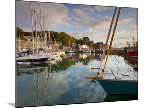 Low Morning Light and Sailing Yacht Reflections at Padstow Harbour, Cornwall, England, United Kingd-Neale Clark-Mounted Photographic Print