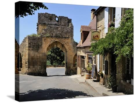 Porte Del Bos, Bastide Town, Domme, Les Plus Beaux Villages De France, Dordogne, France, Europe-Peter Richardson-Stretched Canvas Print
