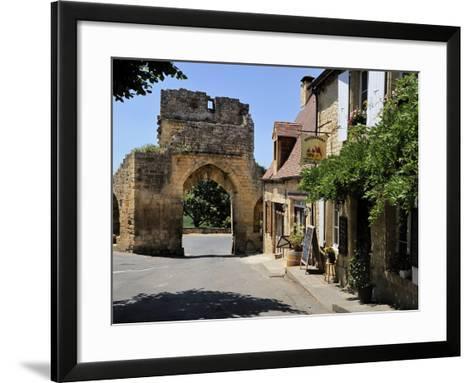 Porte Del Bos, Bastide Town, Domme, Les Plus Beaux Villages De France, Dordogne, France, Europe-Peter Richardson-Framed Art Print