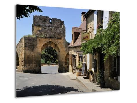 Porte Del Bos, Bastide Town, Domme, Les Plus Beaux Villages De France, Dordogne, France, Europe-Peter Richardson-Metal Print
