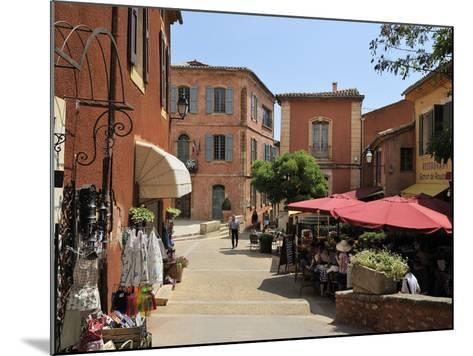 Street Scene in the Ochre Coloured Town of Roussillon, Parc Naturel Regional Du Luberon, Vaucluse, -Peter Richardson-Mounted Photographic Print