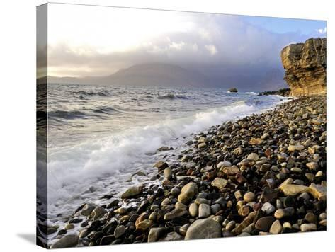 Waves Breaking on the Rocky Foreshore at Elgol, Isle of Skye, Inner Hebrides, Scotland, United King-Peter Richardson-Stretched Canvas Print