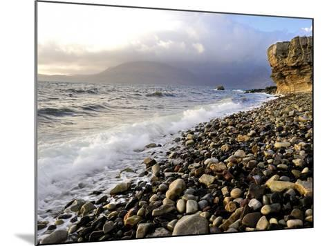 Waves Breaking on the Rocky Foreshore at Elgol, Isle of Skye, Inner Hebrides, Scotland, United King-Peter Richardson-Mounted Photographic Print