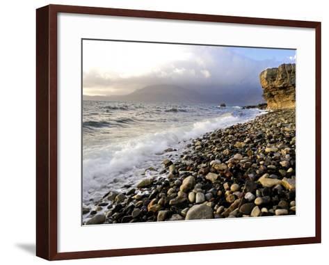 Waves Breaking on the Rocky Foreshore at Elgol, Isle of Skye, Inner Hebrides, Scotland, United King-Peter Richardson-Framed Art Print