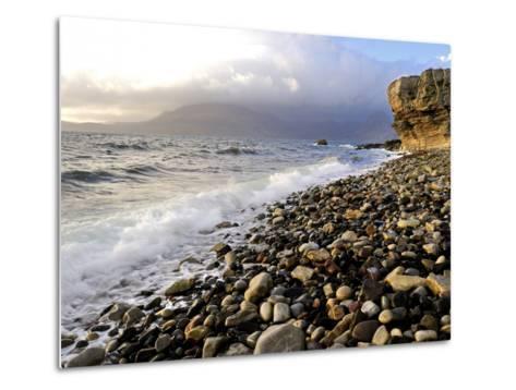Waves Breaking on the Rocky Foreshore at Elgol, Isle of Skye, Inner Hebrides, Scotland, United King-Peter Richardson-Metal Print