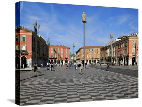 Place Massena, Nice, Alpes Maritimes, Provence, Cote D'Azur, French Riviera, France, Europe-Peter Richardson-Stretched Canvas Print