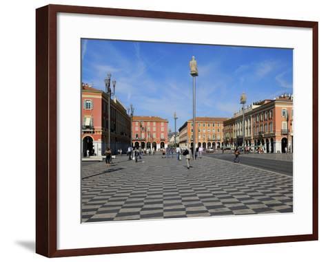 Place Massena, Nice, Alpes Maritimes, Provence, Cote D'Azur, French Riviera, France, Europe-Peter Richardson-Framed Art Print