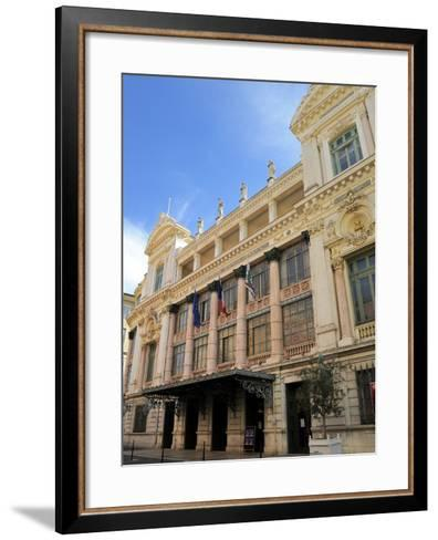 Facade of the Opera Theatre, Nice, Alpes Maritimes, Provence, Cote D'Azur, French Riviera, France, -Peter Richardson-Framed Art Print
