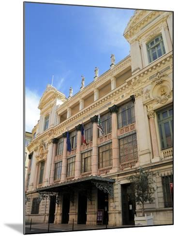 Facade of the Opera Theatre, Nice, Alpes Maritimes, Provence, Cote D'Azur, French Riviera, France, -Peter Richardson-Mounted Photographic Print