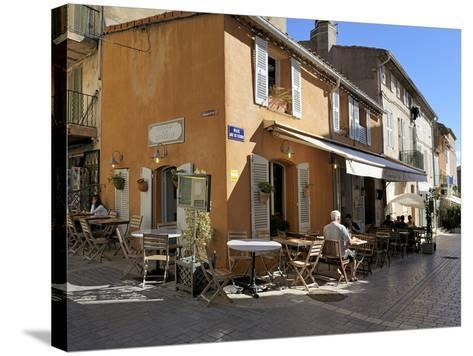 Back Street Restaurants, St. Tropez, Var, Provence, Cote D'Azur, France, Europe-Peter Richardson-Stretched Canvas Print