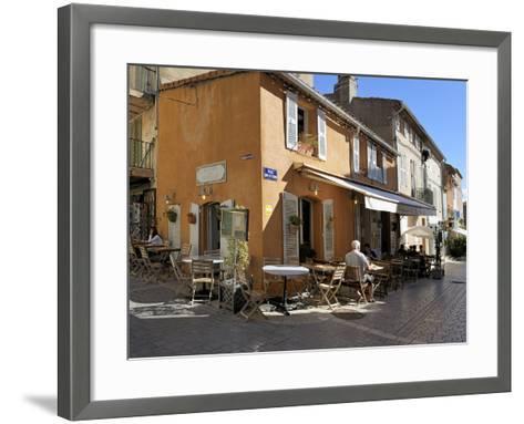 Back Street Restaurants, St. Tropez, Var, Provence, Cote D'Azur, France, Europe-Peter Richardson-Framed Art Print