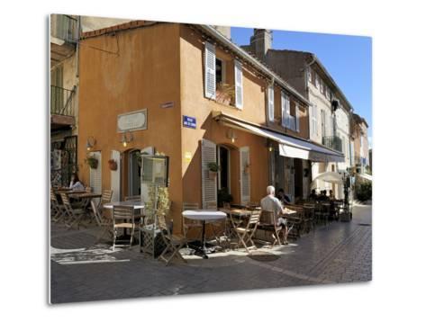 Back Street Restaurants, St. Tropez, Var, Provence, Cote D'Azur, France, Europe-Peter Richardson-Metal Print