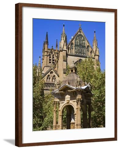 Water Fountain Near St. Mary's Cathedral, Central Business District, Sydney, New South Wales, Austr-Richard Cummins-Framed Art Print