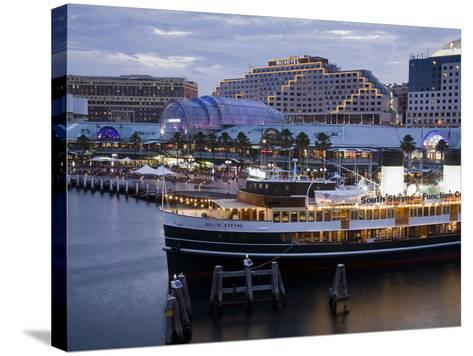 South Steyne Ferry and Harbourside in Darling Harbour, Central Business District, Sydney, New South-Richard Cummins-Stretched Canvas Print