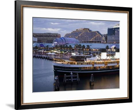 South Steyne Ferry and Harbourside in Darling Harbour, Central Business District, Sydney, New South-Richard Cummins-Framed Art Print