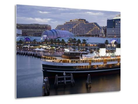 South Steyne Ferry and Harbourside in Darling Harbour, Central Business District, Sydney, New South-Richard Cummins-Metal Print