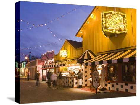 Old Fisherman's Grotto Restaurant on Fisherman's Wharf, Monterey, California, United States of Amer-Richard Cummins-Stretched Canvas Print